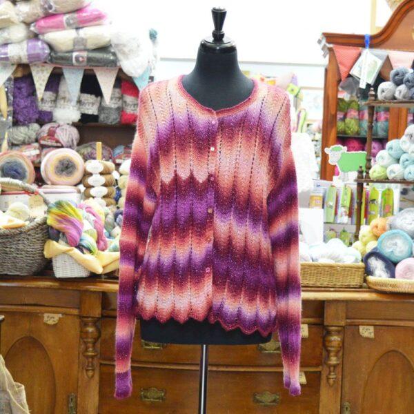 Cabaret DK yarn Garment, cardigan, knitted up