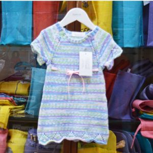 Stylecraft Lullaby Prints knitted baby dress