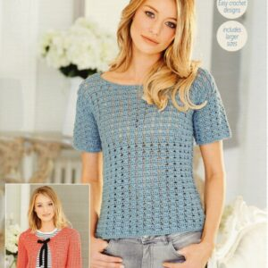 Stylecraft 9507 DK Ladies Linen Drape Knitting Pattern