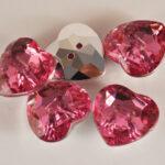 Diamonte Heart Pink