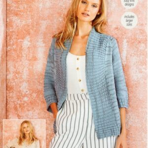 Stylecraft Moonbeam 9624 knitting pattern for a jumper and a cardigan