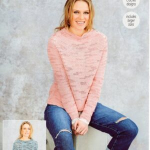Stylecraft Moonbeam 9627 knitting pattern for 2 jumpers