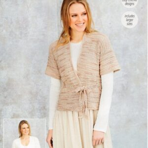 Stylecraft Moonbeam 9629 easy crochet pattern for 2 cardigans