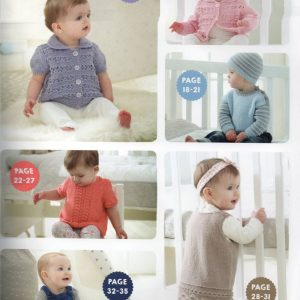 West Yorkshire Spinners WYS Bo Peep pattern book 3 Index 1 baby and toddler knitting patterns