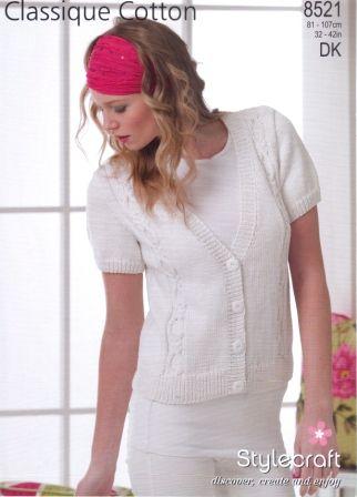 Stylecraft Classique Cotton DK pattern 8521