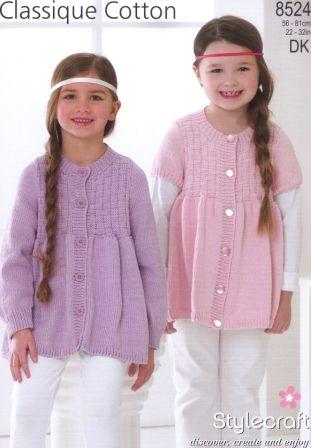 Stylecraft Classique Cotton DK pattern 8524