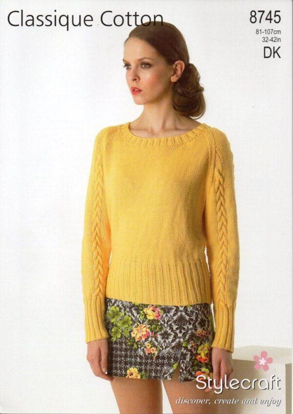 Stylecraft Classique Cotton DK pattern 8745