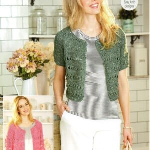 Stylecraft Mystique chunky tape yarn knitting pattern 9383