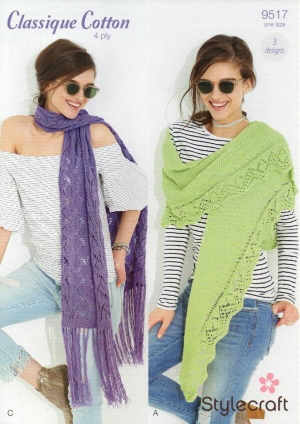 Stylecraft Classique Cotton 4 Ply pattern 9517