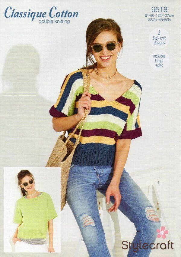 Stylecraft Classique Cotton DK pattern 9518