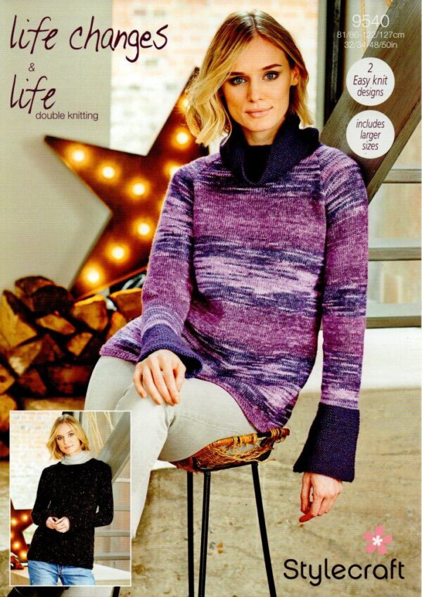 Stylecraft Life Changes DK knitting pattern 9540