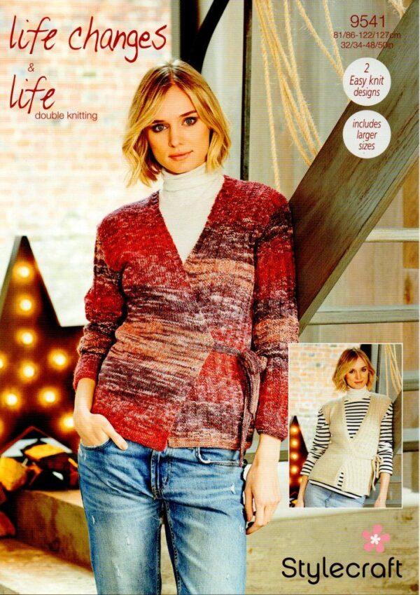 Stylecraft Life Changes DK knitting pattern 9541