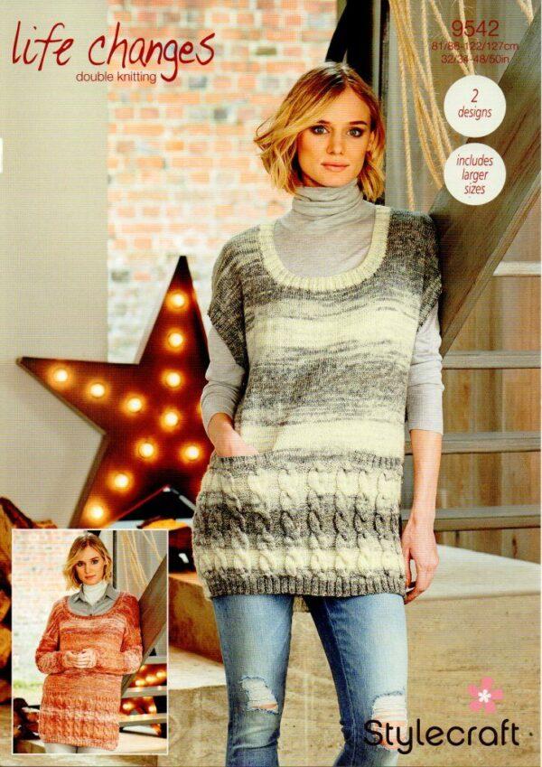 Stylecraft Life Changes DK knitting pattern 9542