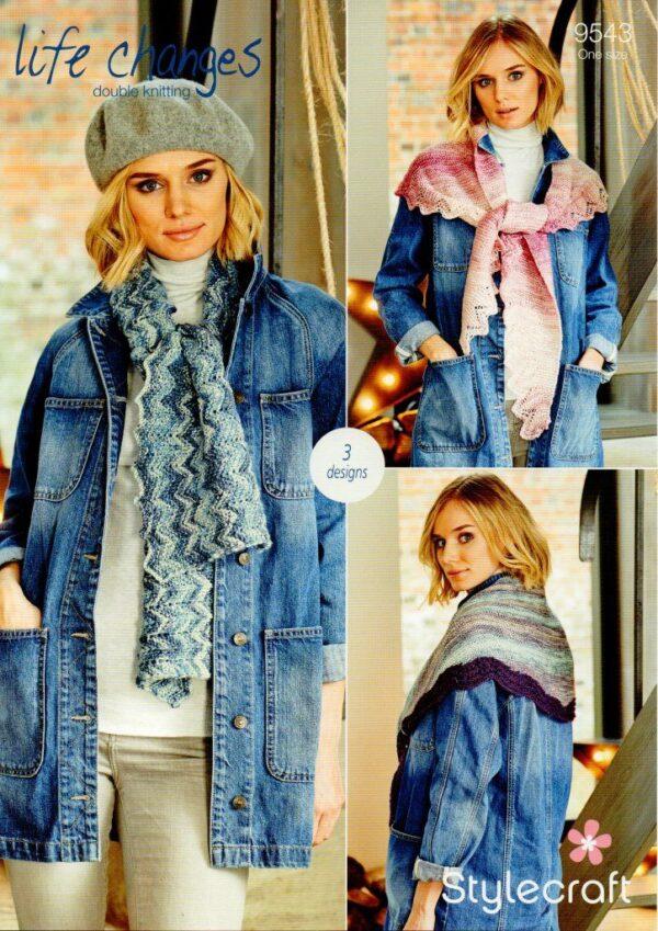 Stylecraft Life Changes DK knitting pattern 9543