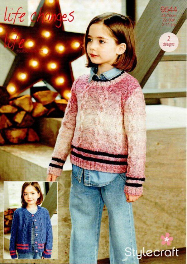 Stylecraft Life Changes DK knitting pattern 9544