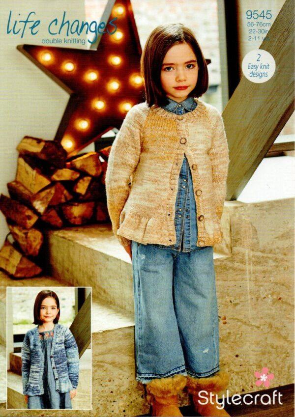 Stylecraft Life Changes DK knitting pattern 9545