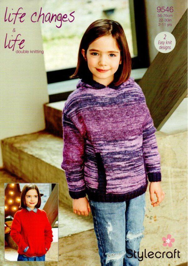 Stylecraft Life Changes DK knitting pattern 9546