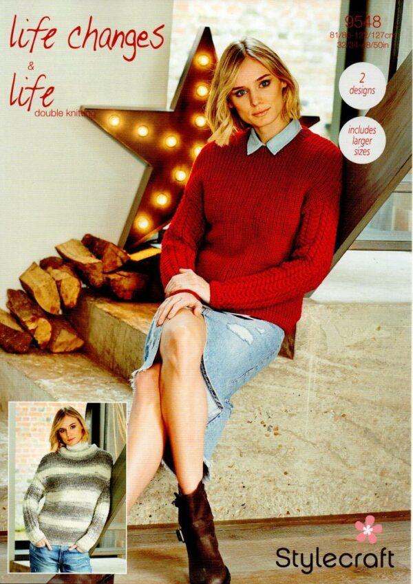 Stylecraft Life Changes DK knitting pattern 9548