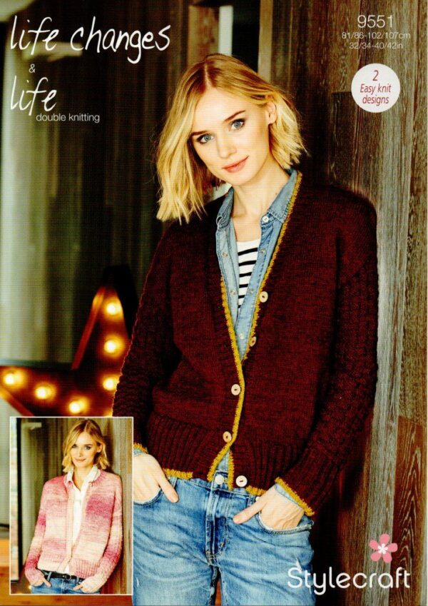 Stylecraft Life Changes DK knitting pattern 9551