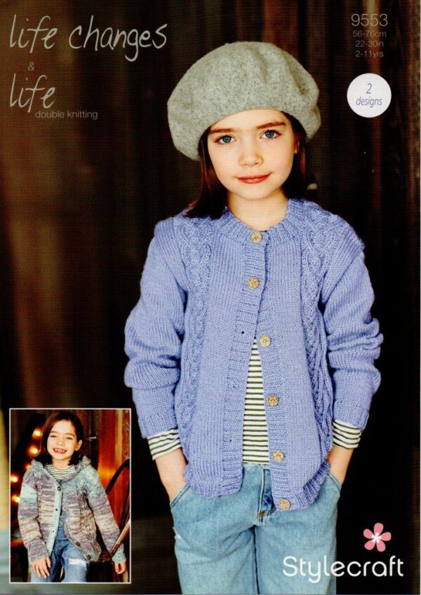 Stylecraft Life Changes chunky yarn knitting pattern 9553