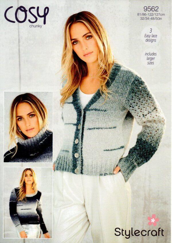 Stylecraft Cosy chunky knitting pattern 9562