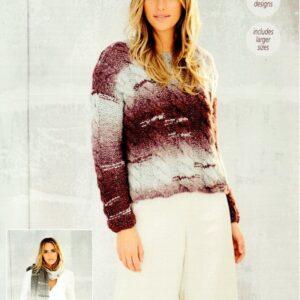 Stylecraft Cosy chunky knitting pattern 9565