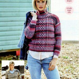 Stylecraft Life Heritage Aran knitting pattern 9568