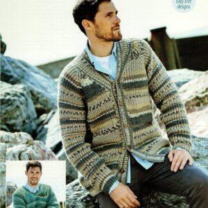 Stylecraft Life Heritage Aran knitting pattern 9574