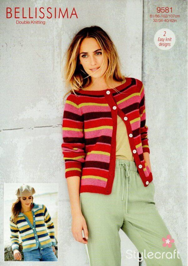 Stylecraft Bellissima DK yarn knitting pattern 9581