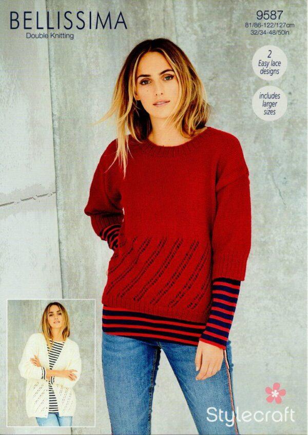 Stylecraft Bellissima DK yarn knitting pattern 9587
