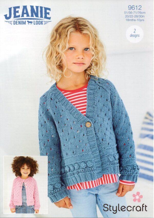 Stylecraft Jeanie Aran yarn pattern 9612