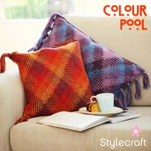 Stylecraft Colour Pool Aran Yarn free pattern cushions