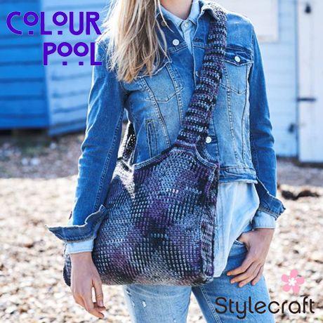 Stylecraft Colour Pool Aran Yarn free pattern bag