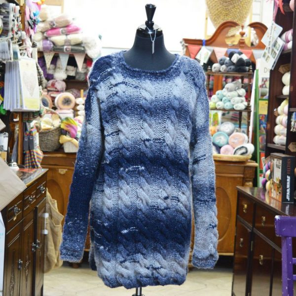 Stylecraft Cozy chunky yarn jumper midnight