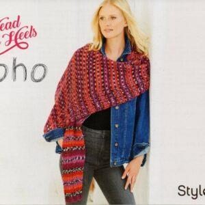 Free Stylecraft Head over Heels Boho 4 ply shawl pattern