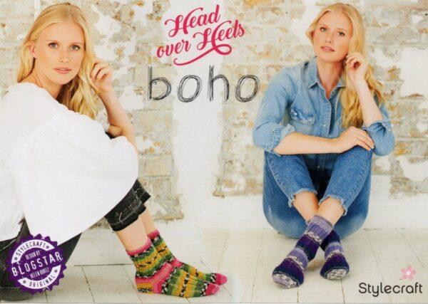 Free Stylecraft Head over Heels Boho 4 ply sock pattern