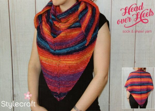 Free Stylecraft Head over Heels 4 ply shawl pattern