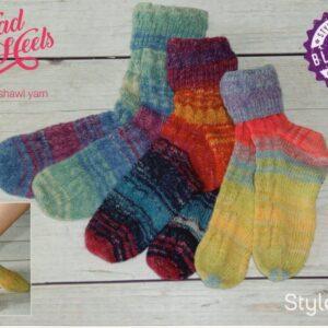 Free Stylecraft Head over Heels 4 ply sock pattern