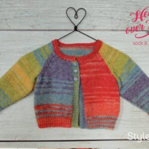 Free Stylecraft Head over Heels toddler cardigan pattern