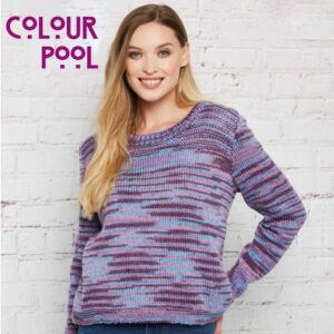 Stylecraft Colour Pool Aran Yarn free pattern knitted jumper