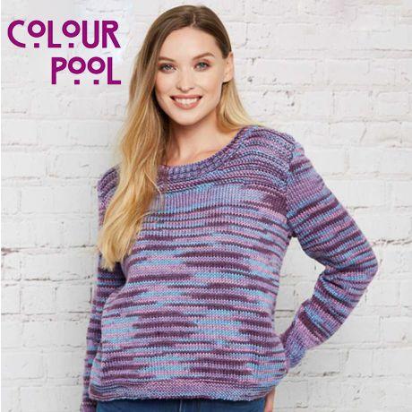 Stylecraft Colour Pool Aran Yarn free pattern knitted jumper