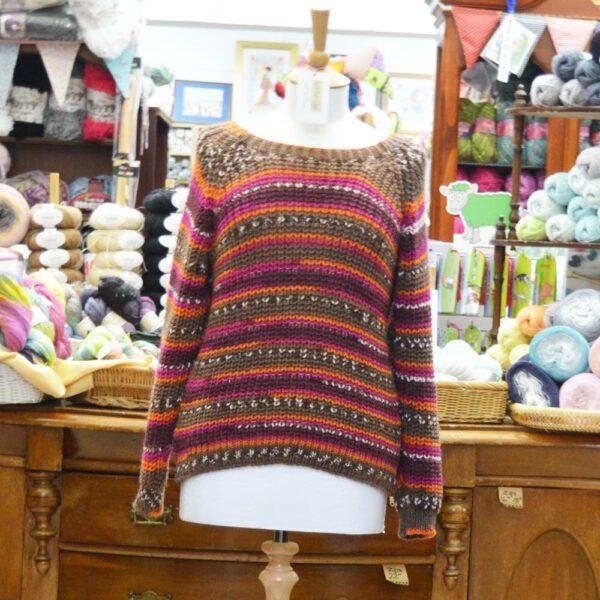 Stylecraft Heritage Aran knitted ladies jumper
