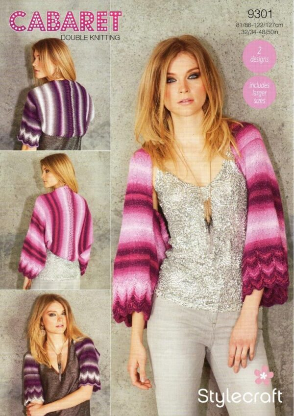 Stylecraft Cabaret knitting pattern 9301