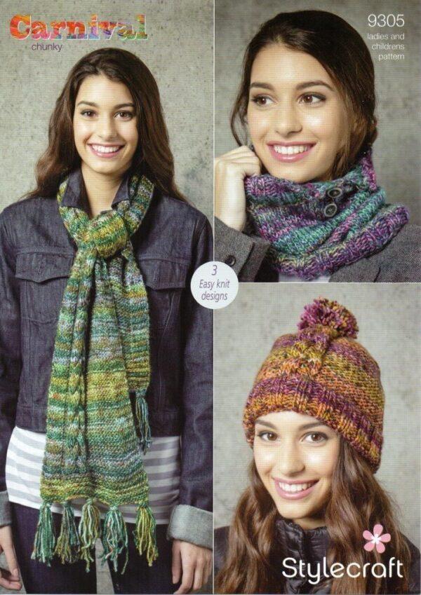Stylecraft Cabaret knitting pattern 9305
