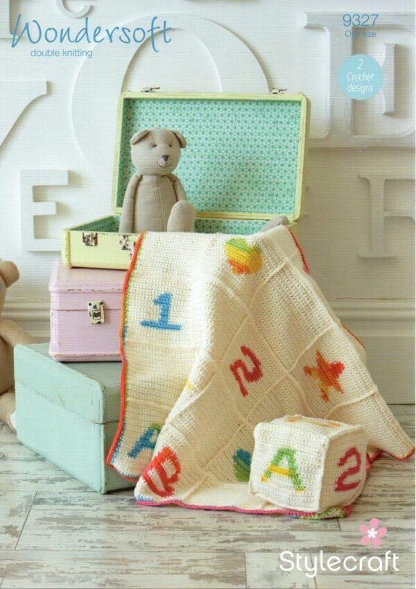 Stylecraft Wondersoft 4 ply crochet pattern 9327
