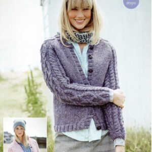 Stylecraft Alpaca Tweed Chunky knitting pattern 9455