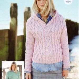 Stylecraft Alpaca Tweed Chunky knitting pattern 9456