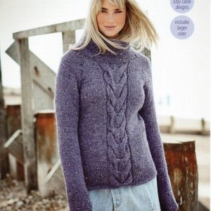 Stylecraft Alpaca Tweed Chunky knitting pattern 9457
