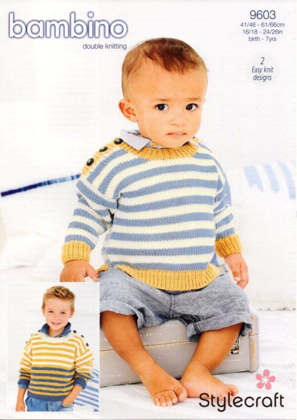 Stylecraft Bambino knitting pattern 9603