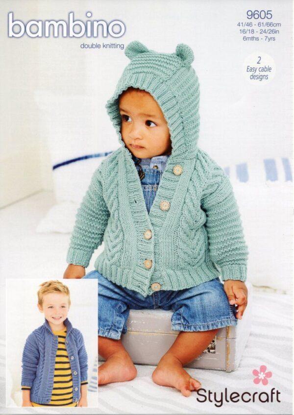 Stylecraft Bambino knitting pattern 9605